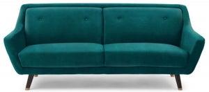 Mark Harris Laura Green Velvet 3 Seater Sofa