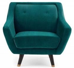 Mark Harris Laura Green Velvet Armchair