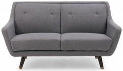 Mark Harris Laura Grey Linen 2 Seater Sofa