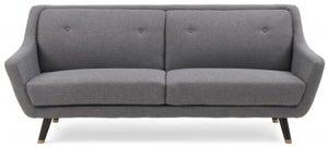 Mark Harris Laura Grey Linen 3 Seater Sofa