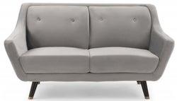 Mark Harris Laura Grey Velvet 2 Seater Sofa