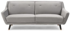 Mark Harris Laura Grey Velvet 3 Seater Sofa