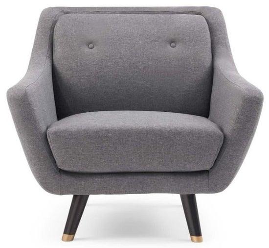 Mark Harris Laura Grey Linen Armchair