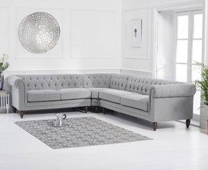 Mark Harris Lauren Grey Linen Corner Sofa