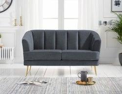 Mark Harris Lucinda Grey Linen 2 Seater Sofa