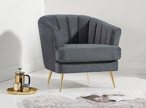 Mark Harris Lucinda Grey Linen Armchair