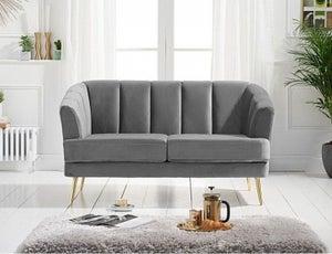 Mark Harris Lucinda Grey Velvet 2 Seater Sofa