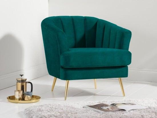 Mark Harris Lucinda Green Velvet Armchair