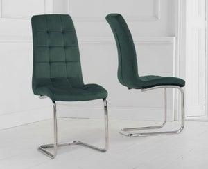 Mark Harris Lucy Green Velvet Dining Chair (Pair)