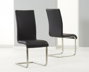 Mark Harris Malibu Black Faux Leather Dining Chair (Pair)
