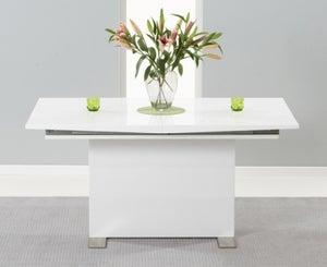 Mark Harris Marila White High Gloss Extending Dining Table