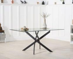 Mark Harris Marina 160cm Glass Dining Table