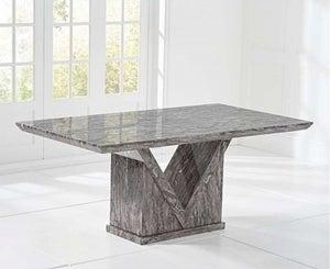 Mark Harris Minsk 160cm Grey Marble Dining Table