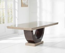 Mark Harris Rivilino Brown Marble Large Dining Table