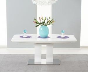 Mark Harris Rossini White High Gloss Extending Dining Table