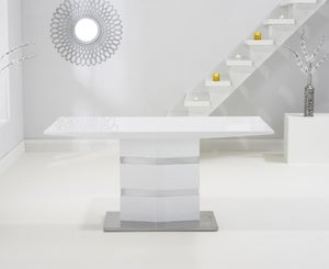 Mark Harris Springfield White High Gloss Dining Table