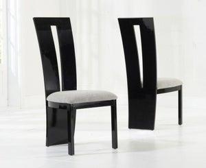 Mark Harris Valencie Black High Gloss Dining Chair (Pair)