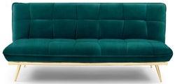 Mark Harris Yasmina Green Velvet 3 Seater Fold Down Sofa Bed