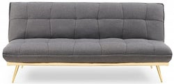 Mark Harris Yasmina Grey Linen 3 Seater Fold Down Sofa Bed