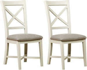 Mark Webster Bordeaux Dining Chair (Pair) - Oak and Grey
