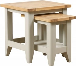 Mark Webster Bordeaux Nest of Tables - Oak and Grey