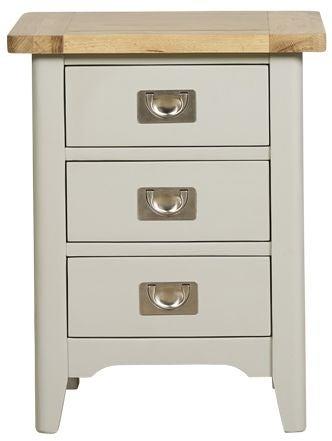 Mark Webster Bordeaux Bedside Cabinet - Oak and Grey