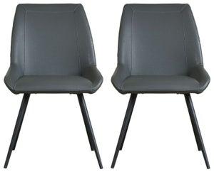 Mark Webster Morada Dark Grey Dining Chair (Pair)