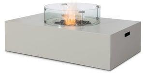 Maze Rattan Lounge Pebble White Rectangular Gas Fire Pit