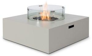 Maze Rattan Lounge Pebble White Square Gas Fire Pit