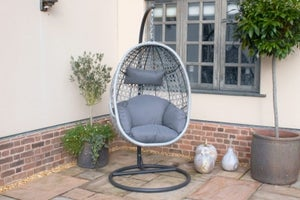 Maze Rattan Ascot Hanging Chair with Weatherproof Cushions