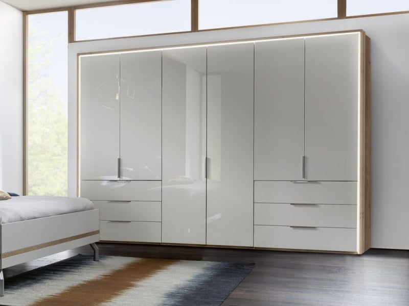 Nolte Concept Me 200 Frosted Glass Front Combi Wardrobe