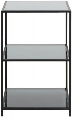 NORDAL Orinoco Black Glass Bookcase