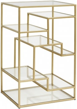 NORDAL Gold and Glass Bookcase