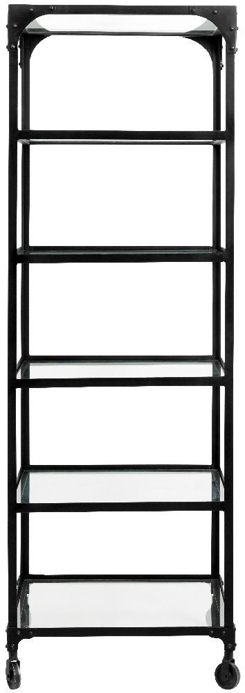 NORDAL Balance Black and Glass Bookcase