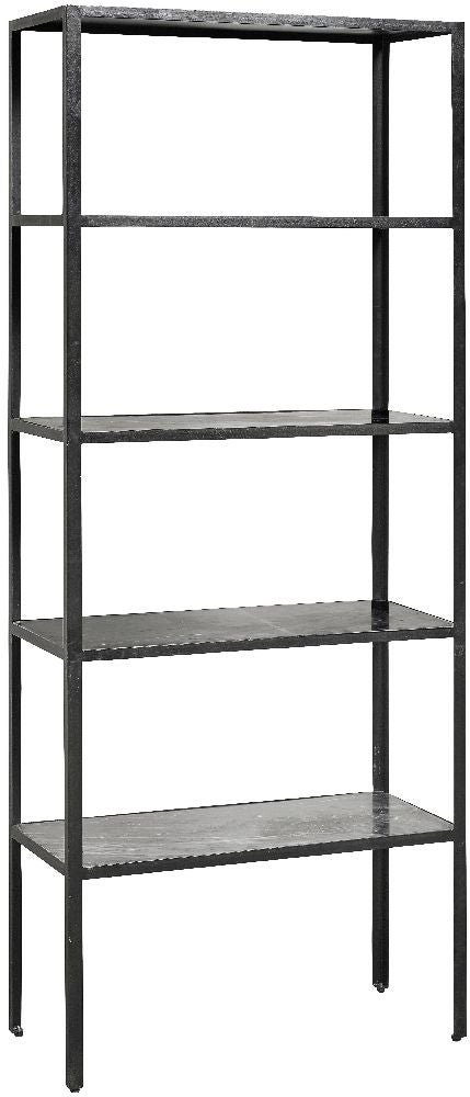 NORDAL Midnight Grey Marble Bookcase
