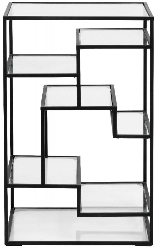 NORDAL Black and Glass Bookcase