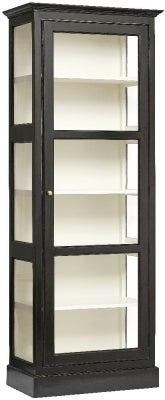 NORDAL Classic Black Mango Wood 1 Door Display Cabinet