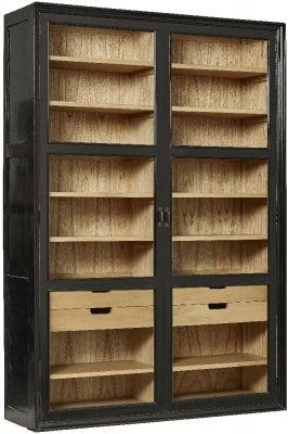 NORDAL Viva Black 2 Door Display Cabinet