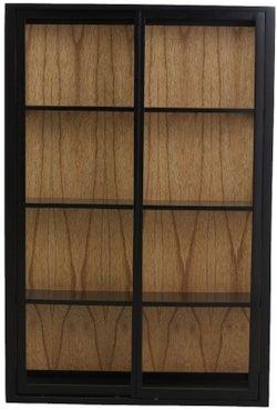 NORDAL Bei Black 2 Slidding Door Wall Display Cabinet