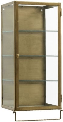 NORDAL Siri Gold 1 Door Glass Wall Display Cabinet