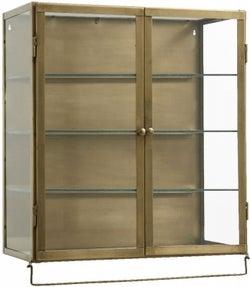 NORDAL Siri Gold 2 Door Glass Wall Display Cabinet