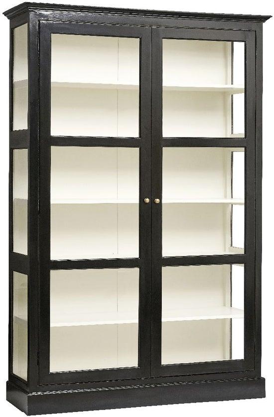 NORDAL Classic Black Mango Wood 2 Door Display Cabinet
