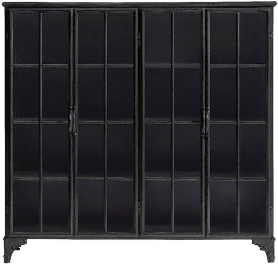 NORDAL Downtown Black 4 Door Display Cabinet