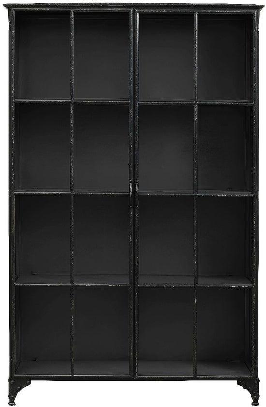 NORDAL Downtown Black 2 Door Wide Display Cabinet
