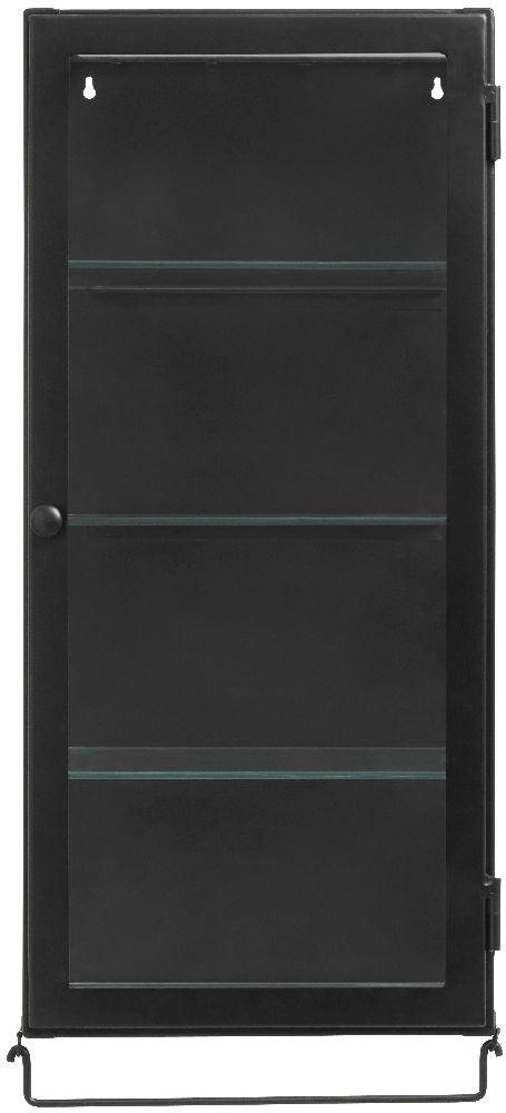NORDAL Siri Black 1 Door Wall Display Cabinet