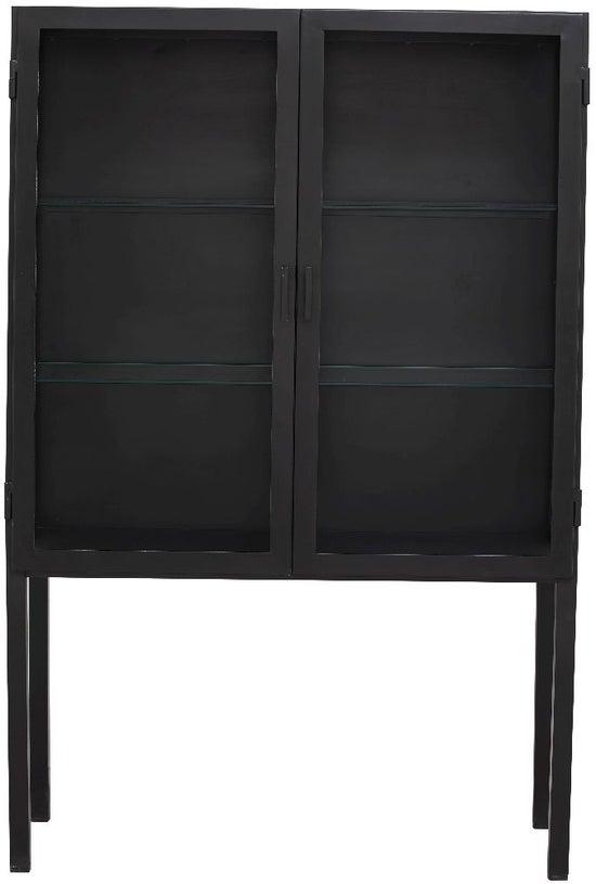 NORDAL Grade Black 2 Door Display Cabinet