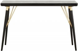 NORDAL Black and Gold Console Table