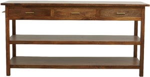 NORDAL Caspian 3 Drawer Mango Wood Console Table