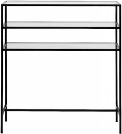 NORDAL Icon Black and Glass Console Table