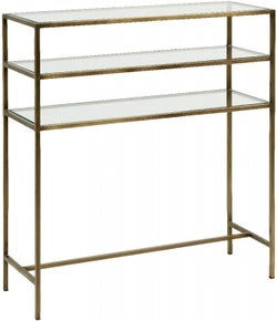 NORDAL Icon Gold and Glass Console Table